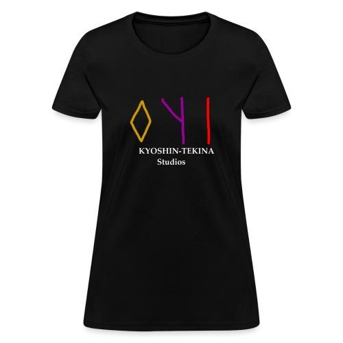 Kyoshin-Tekina Studios logo (white text) - Women's T-Shirt