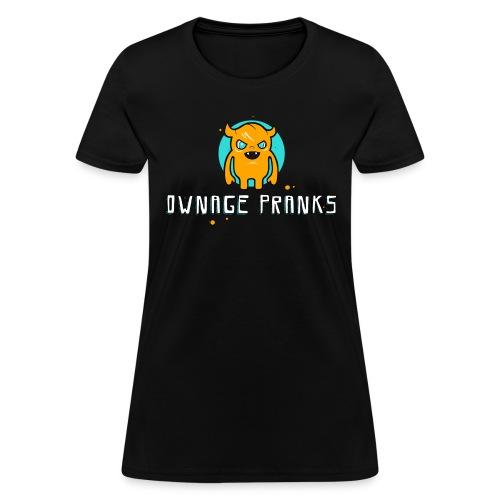 ownagepranks logo orange - Women's T-Shirt