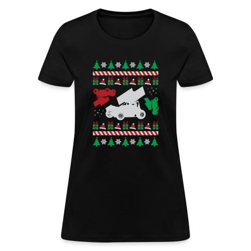 Sprint Car Ugly Christmas - Women's T-Shirt