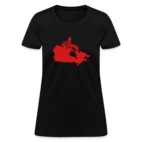 Map of Canada - Women's T-Shirt