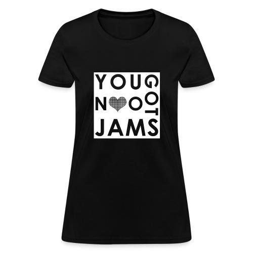 NO JAMS White Cutout - Women's T-Shirt