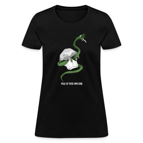 Origami Snake and skull - Women's T-Shirt