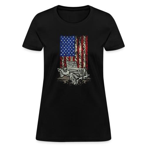 American Flag Wrangler - Women's T-Shirt