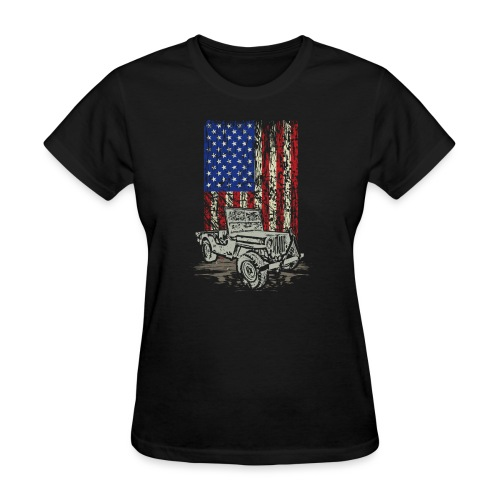Jeep American Flag - Women's T-Shirt