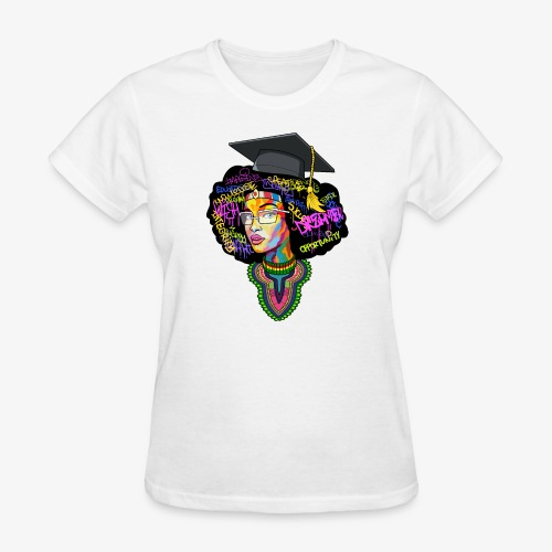 Melanin Women Afro Education - Women's T-Shirt
