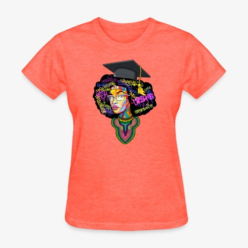 Melanin Women Afro Education - Women's T-Shirt