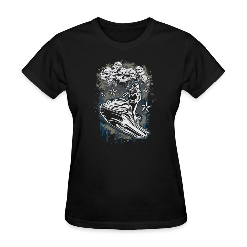 Jet Ski Skull Bunch - Women's T-Shirt
