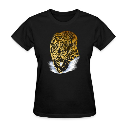 Golden Snow Tiger - Women's T-Shirt