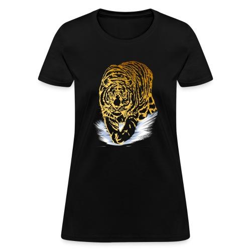 Golden Snow Tiger - Women's T-Shirt
