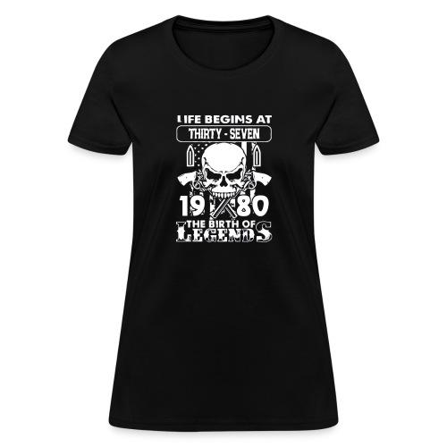 1980 The birth of Legends gift shirt 37 - Women's T-Shirt