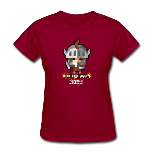 Knight ME v EVIL (White logo) - Women's T-Shirt