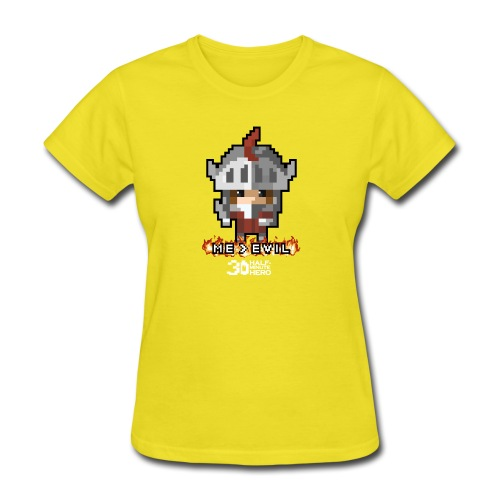 Knight ME v EVIL (White logo) - Women's T-Shirt