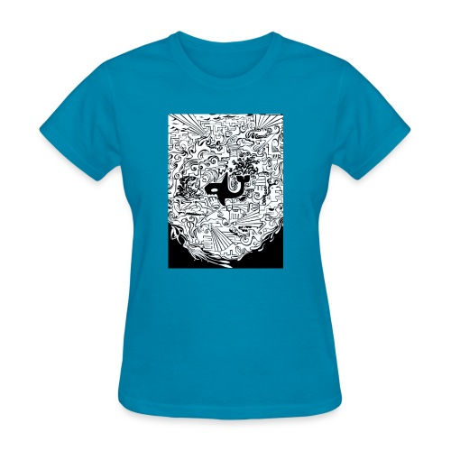 night hunt negative - Women's T-Shirt