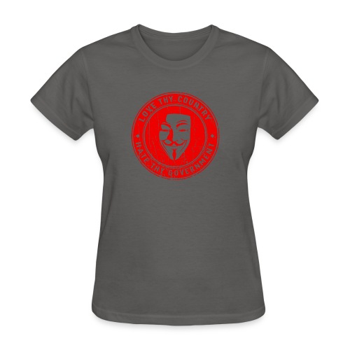 red love thy country - Women's T-Shirt