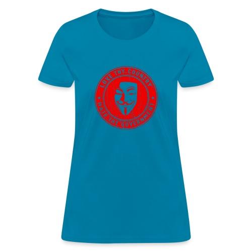 red love thy country - Women's T-Shirt