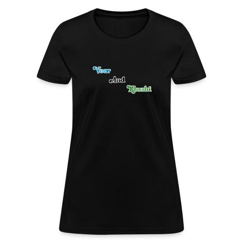 Channel Name Written In Three Layer Black T-shirt - Women's T-Shirt