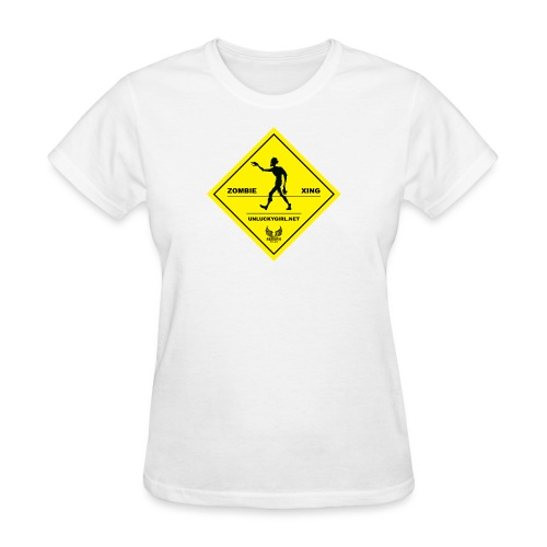 Zombie Crossing png - Women's T-Shirt