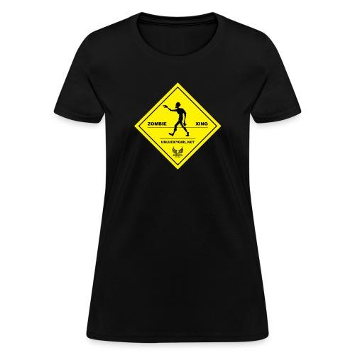 Zombie Crossing png - Women's T-Shirt