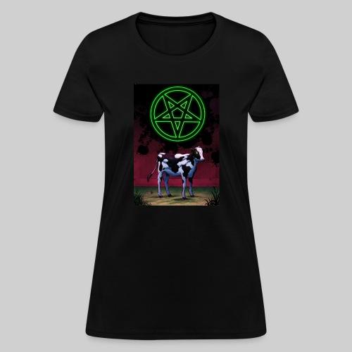 Satanic Cow - Women's T-Shirt