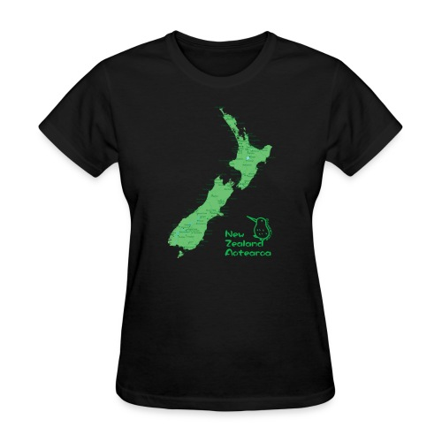 New Zealand's Map - Women's T-Shirt