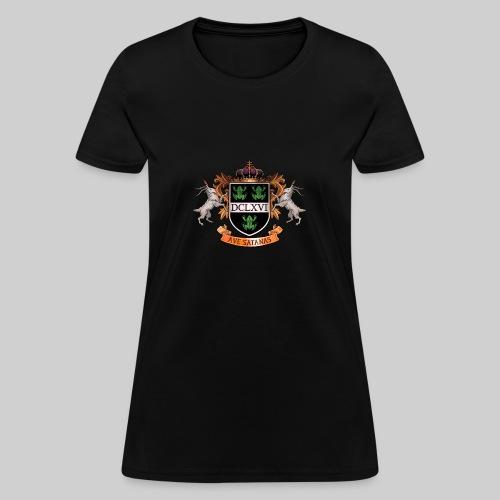 Satanic Heraldry - Coat of Arms - Women's T-Shirt
