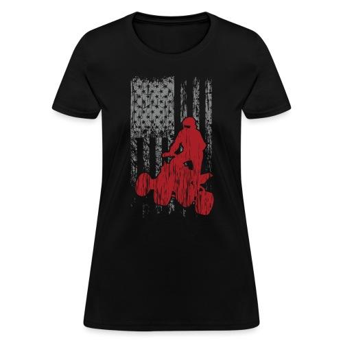 ATV Quad USA Flag Grunge - Women's T-Shirt