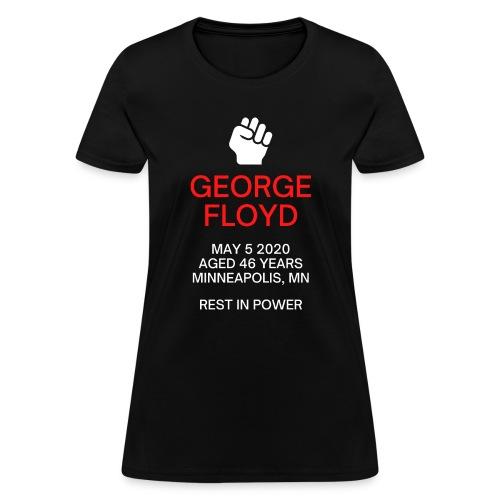 George Floyd Memorial(white & red version) - Women's T-Shirt