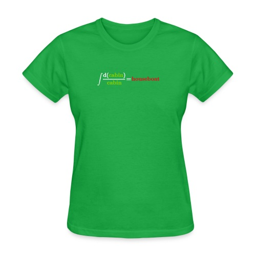 log cabin joke - Women's T-Shirt