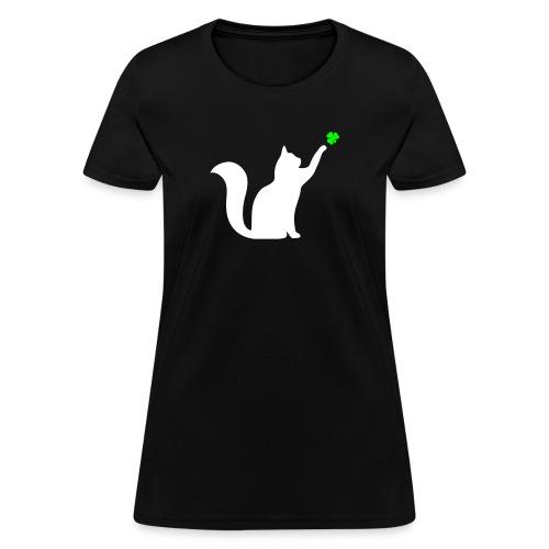 Cat and Shamrock - Women's T-Shirt