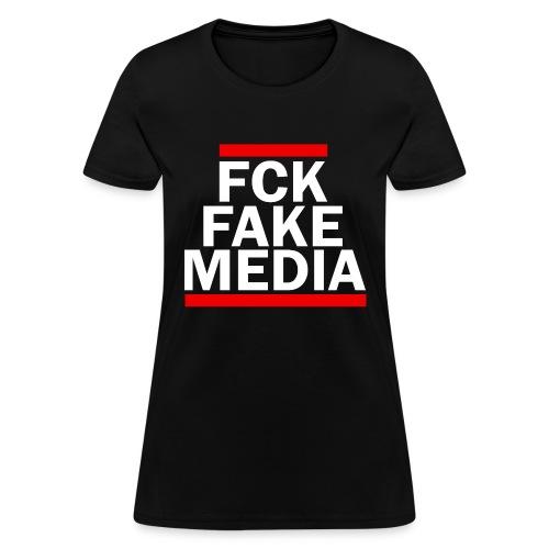FCK FAKE MEDIA - RED - Women's T-Shirt