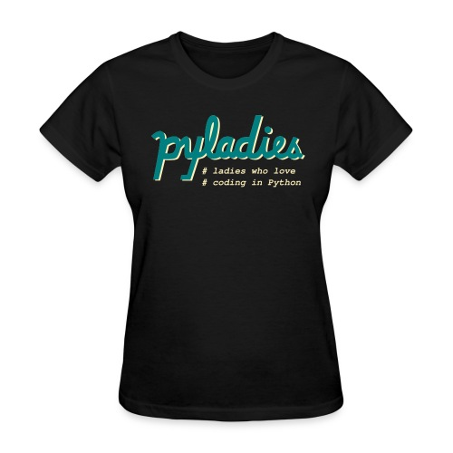 PyLadies Ladies who love coding in Python - Women's T-Shirt