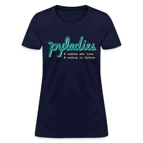 PyLadies Ladies who love coding in Python - Women's T-Shirt