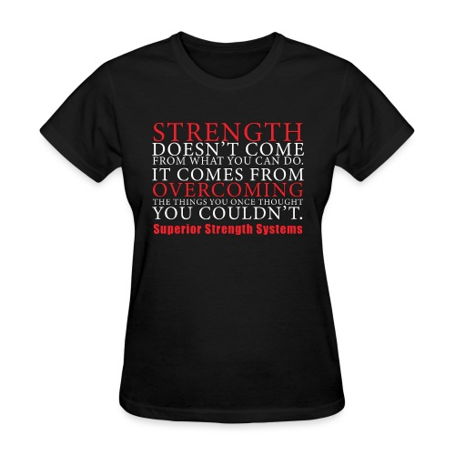 Strength Doesn t Come from - Women's T-Shirt