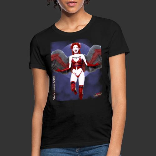 Undead Angels By Moonlight Vamp Cupid Scarlet 1 - Women's T-Shirt