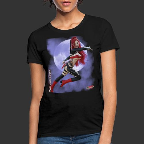 Undead Angels By Moonlight: Vampire Stiletto - Women's T-Shirt