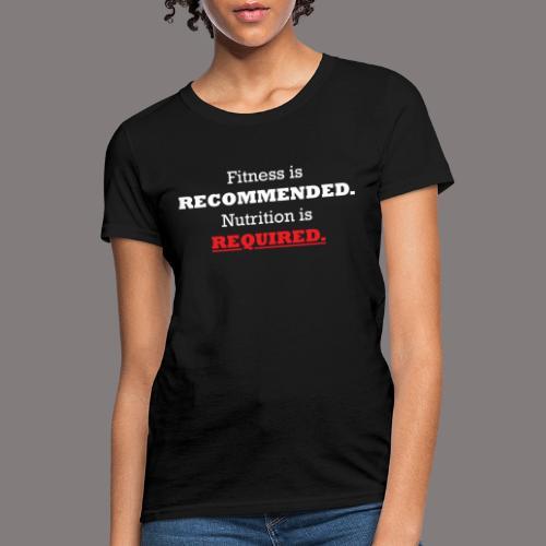 Ladies_Nutrition - Women's T-Shirt