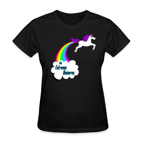 rainbow farting unicorn - Women's T-Shirt