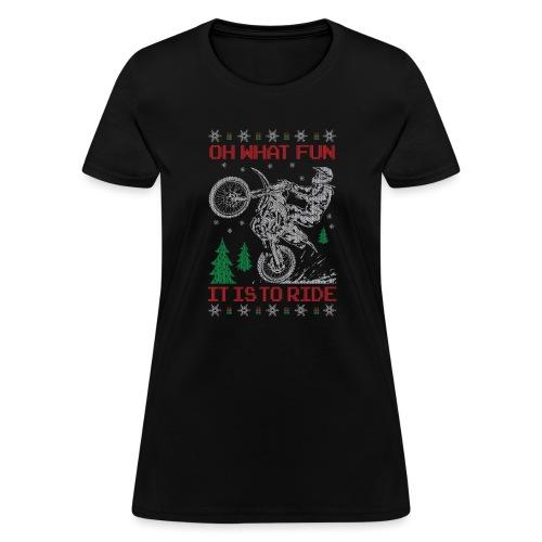 Motocross Ugly Christmas - Women's T-Shirt