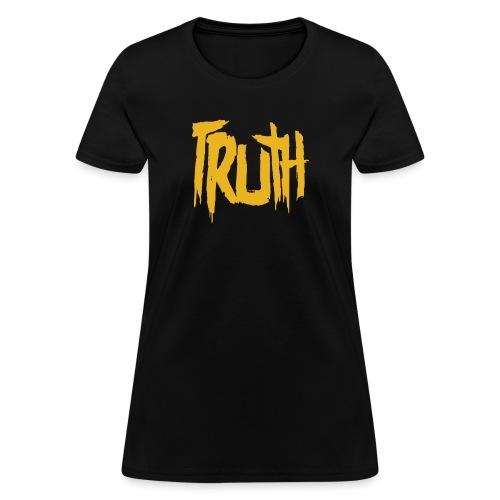 TruthLogo01 Yellow png - Women's T-Shirt