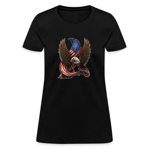 Bald Eagle American Flag - Women's T-Shirt