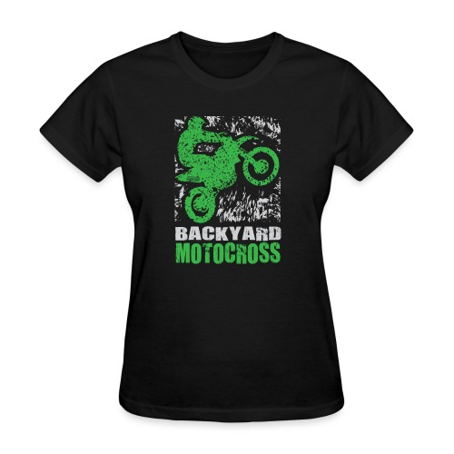 Motocross Backyard Green - Women's T-Shirt