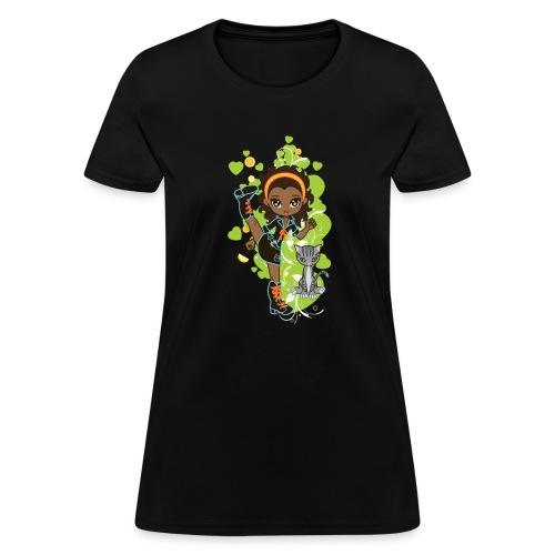Aisha the African American Chibi Girl - Women's T-Shirt