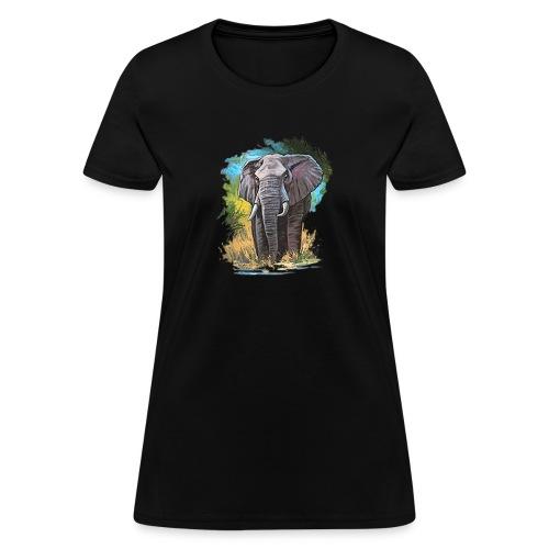 elephant true colors - Women's T-Shirt