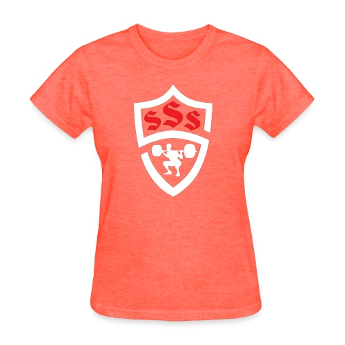 Logo Only White and Red - Women's T-Shirt