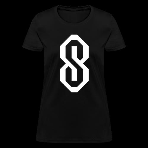 White S Logo - Women's T-Shirt