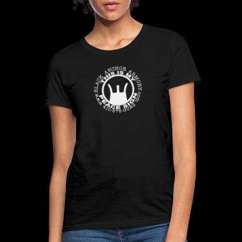Peace Sign - Women's T-Shirt