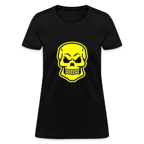 Skull vector yellow - Women's T-Shirt
