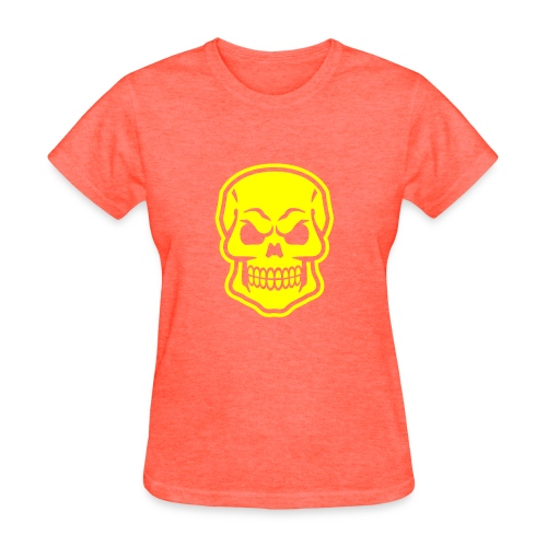 Skull vector yellow - Women's T-Shirt