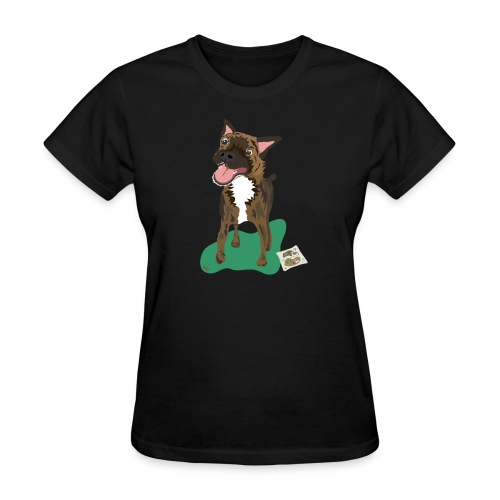 Edgrrr Brindle Terrier - Women's T-Shirt