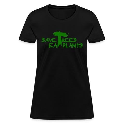 Eat plants, green - Women's T-Shirt